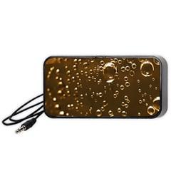 Festive Bubbles Sparkling Wine Champagne Golden Water Drops Portable Speaker (black)