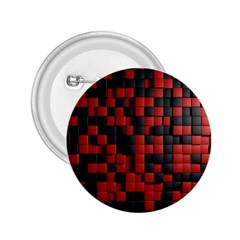 Black Red Tiles Checkerboard 2 25  Buttons