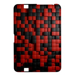 Black Red Tiles Checkerboard Kindle Fire Hd 8 9