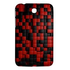 Black Red Tiles Checkerboard Samsung Galaxy Tab 3 (7 ) P3200 Hardshell Case