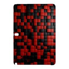 Black Red Tiles Checkerboard Samsung Galaxy Tab Pro 12 2 Hardshell Case