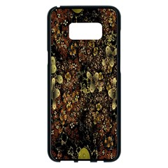 Wallpaper With Fractal Small Flowers Samsung Galaxy S8 Plus Black Seamless Case by BangZart