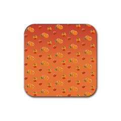 Peach Fruit Pattern Rubber Coaster (square)