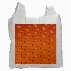 Peach Fruit Pattern Recycle Bag (two Side)