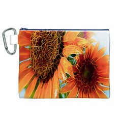 Sunflower Art  Artistic Effect Background Canvas Cosmetic Bag (xl) by BangZart