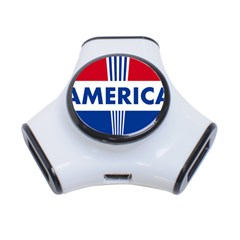 America  3 Port Usb Hub by Colorfulart23
