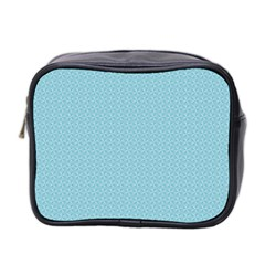 Blue Pattern Mini Toiletries Bag 2 Side
