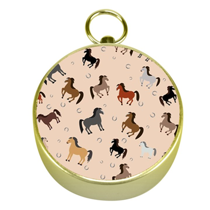 Horses For Courses Pattern Gold Compasses