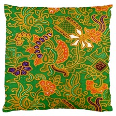 Art Batik The Traditional Fabric Large Cushion Case (one Side) by BangZart