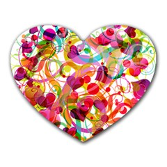Abstract Colorful Heart Heart Mousepads by BangZart