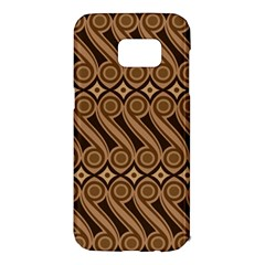 Batik The Traditional Fabric Samsung Galaxy S7 Edge Hardshell Case by BangZart