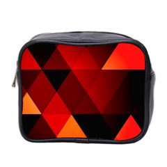 Abstract Triangle Wallpaper Mini Toiletries Bag 2 Side by BangZart