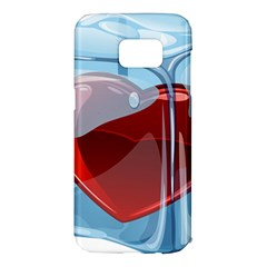 Heart In Ice Cube Samsung Galaxy S7 Edge Hardshell Case by BangZart