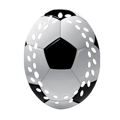 Soccer Ball Ornament (oval Filigree) by BangZart