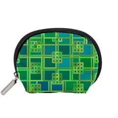 Green Abstract Geometric Accessory Pouches (small)  by BangZart