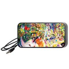 Multicolor Anime Colors Colorful Portable Speaker (black)