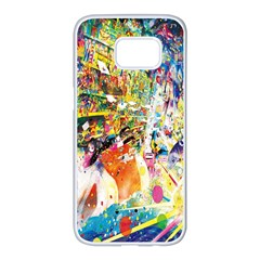 Multicolor Anime Colors Colorful Samsung Galaxy S7 Edge White Seamless Case by BangZart
