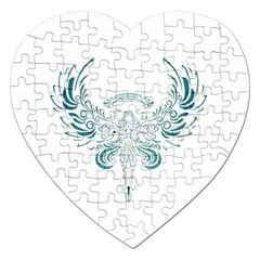 Angel Tribal Art Jigsaw Puzzle (heart) by BangZart