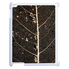 Vein Skeleton Of Leaf Apple Ipad 2 Case (white) by BangZart