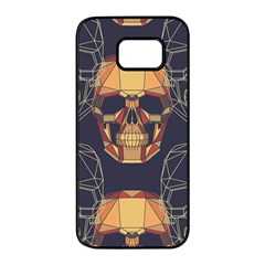 Skull Pattern Samsung Galaxy S7 Edge Black Seamless Case by BangZart