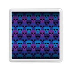 Skull Pattern Wallpaper Memory Card Reader (square)