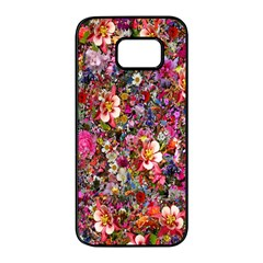 Psychedelic Flower Samsung Galaxy S7 Edge Black Seamless Case by BangZart