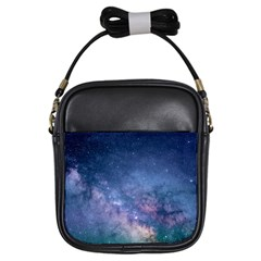 Galaxy Nebula Astro Stars Space Girls Sling Bags by paulaoliveiradesign