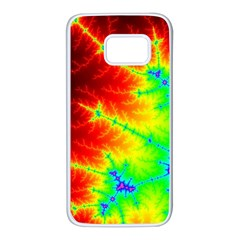 Misc Fractals Samsung Galaxy S7 White Seamless Case by BangZart