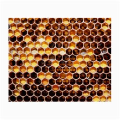 Honey Honeycomb Pattern Small Glasses Cloth (2 Side) by BangZart
