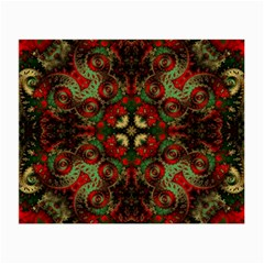 Fractal Kaleidoscope Small Glasses Cloth (2 Side) by BangZart