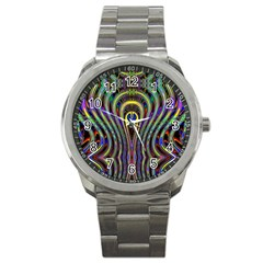 Curves Color Abstract Sport Metal Watch
