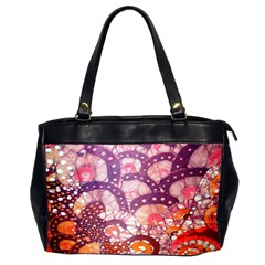 Colorful Art Traditional Batik Pattern Office Handbags (2 Sides)  by BangZart