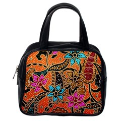 Colorful The Beautiful Of Art Indonesian Batik Pattern(1) Classic Handbags (one Side) by BangZart