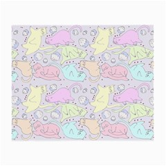 Cat Animal Pet Pattern Small Glasses Cloth (2 Side) by BangZart