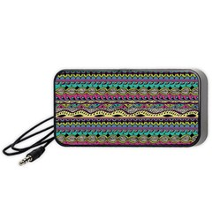Aztec Pattern Cool Colors Portable Speaker (black)
