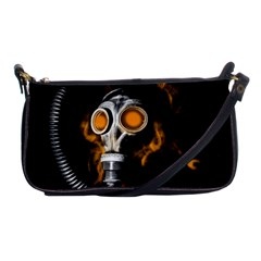 Gas Mask Shoulder Clutch Bags by Valentinaart