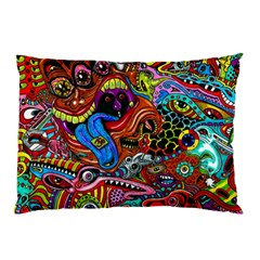 Art Color Dark Detail Monsters Psychedelic Pillow Case (two Sides)