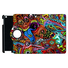 Art Color Dark Detail Monsters Psychedelic Apple Ipad 2 Flip 360 Case by BangZart