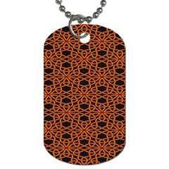 Triangle Knot Orange And Black Fabric Dog Tag (two Sides) by BangZart