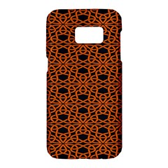 Triangle Knot Orange And Black Fabric Samsung Galaxy S7 Hardshell Case  by BangZart