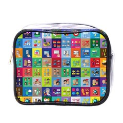 Exquisite Icons Collection Vector Mini Toiletries Bags by BangZart