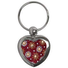 India Traditional Fabric Key Chains (heart)  by BangZart