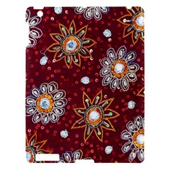 India Traditional Fabric Apple Ipad 3/4 Hardshell Case by BangZart