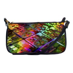 Technology Circuit Computer Shoulder Clutch Bags by BangZart