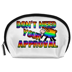 Dont Need Your Approval Accessory Pouches (large)  by Valentinaart