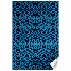 Triangle Knot Blue And Black Fabric Canvas 24  X 36  by BangZart