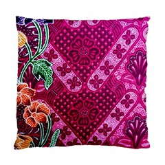 Pink Batik Cloth Fabric Standard Cushion Case (one Side) by BangZart