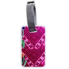Pink Batik Cloth Fabric Luggage Tags (two Sides) by BangZart