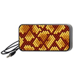 Snake Skin Pattern Vector Portable Speaker (black)