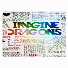 Imagine Dragons Quotes Large Glasses Cloth (2 Side) by BangZart